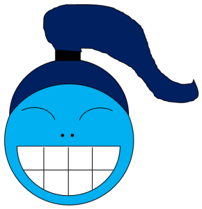 creepy smile blue