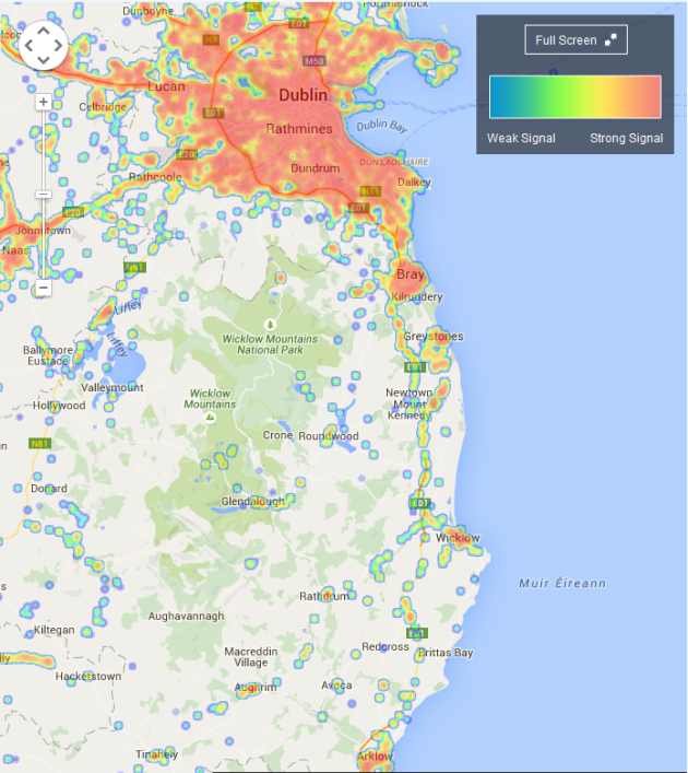phone signal map